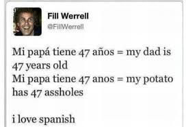 Funny Spanish Meme - funny tweet i love spanish meme collection