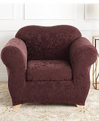 Slipcover Shop Reviews Sure Fit Stretch Jacquard Damask Slipcover Collection Slipcovers