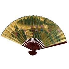 Oriental Wall Fan by Asian Fans Wall Decor Pair Vintage 1970u0027s Solid Brass
