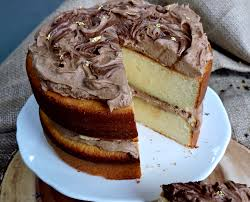 condensed milk cake with salted nutella frosting u2013 bakedbyh