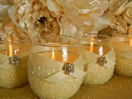 fabulous decorated wedding candles and table decoration ideas with