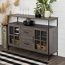 buffet sideboard cabinet storage kitchen hallway table industrial rustic industrial sideboard