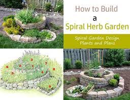 how to build a spiral herb garden spiral garden design plants