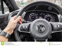 volkswagen tiguan black interior volkswagen tiguan 2017 steering wheel editorial stock photo
