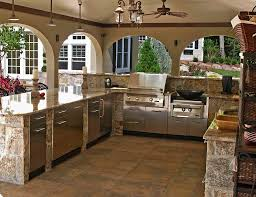 Outdoor Kitchen Countertops Ideas Kitchen Wonderful Metal Outdoor Kitchen Cabinets Home Depot With