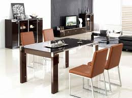dining room chic white modular kitchen concept with brown with