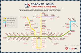 Ttc Subway Map by Toronto Property Price Subway Maps Theredpin