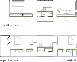 shotgun house floor plan with stairs in the center inspired by