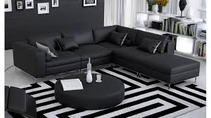 canapé tissus design canapé design romano noir en tissu pour faciliter l entretien et