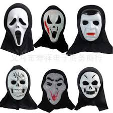 Scary Mask Black Mask Halloween Halloween Mask Party Scary Mask Ghost Mask