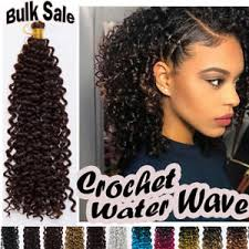 crochet braids with human hair 100 natural water wave crochet braids 15 long deep curly human