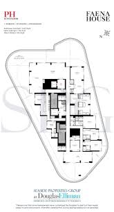U Condo Floor Plan by 1 2 Penthouse Floorplans For Faena House Luxury Oceanfront