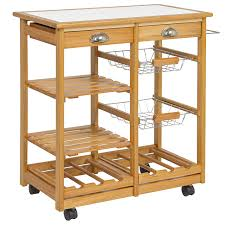 Amazoncom Best Choice Products Wood Kitchen Storage Cart Dining - Kitchen cart table