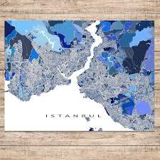 Istanbul World Map by Istanbul Map Print Turkey U2013 Maps As Art