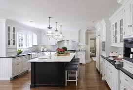 kitchen with black island and white cabinets 200 beautiful white kitchen design ideas that never goes