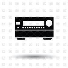 receiver home theater home theater receiver icon vector image 164257 u2013 rfclipart