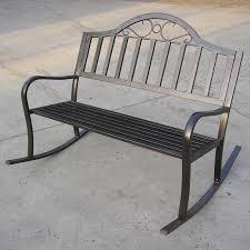 Metal Rocking Patio Chairs Modern Patio Rocking Bench Cnxconsortium Org Outdoor Furniture