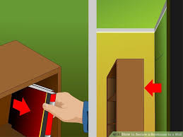 How To Make A Corner Bookshelf How To Secure A Bookcase To A Wall 15 Steps With Pictures