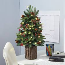 the tabletop prelit christmas tree hammacher schlemmer