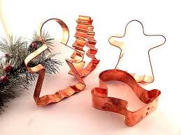 copper cookie cutters large angel gingerbread mitten and tree