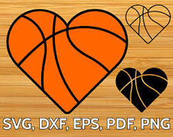 heart shaped items basketball heart etsy