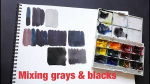 how to mix gray u0026 black with watercolor part 2 2 youtube