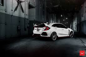 honda civic type r 2018 2018 honda civic type r twins get vossen hybrid forged wheels