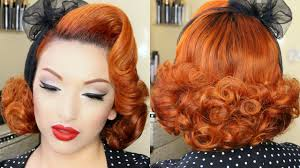 www hairstyle pin classic pin up hair tutorial youtube