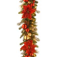 home decorative collection decorative collection 9 ft home for the holidays garland with