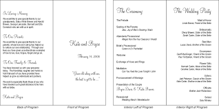 wedding program format is a typical wedding program presented in a simple fold format