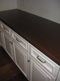 ikea countertops with rounded edge and dark stain beautiful