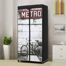 Clothes Cupboard Portable Fabric Closet Storage Organizer Clothes Wardrobe Rack