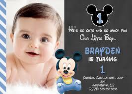 mickey mouse 1st birthday invitations best invitations card ideas