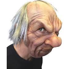 amazon com super soft grumpy old man mask clothing