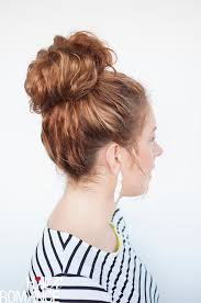 hairstyles with a hair donut curls week curly top knot hairstyle tutorial hair romance