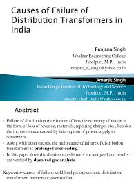 final causes of failure of distribution transformers in india 1