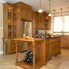 cuisine merisier armoires de cuisine merisier classique latté 2 idée de décoration