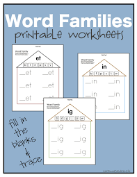 free word family worksheets free worksheets library download and