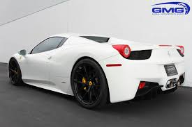 Ferrari 458 Black And White - white ferrari 458 with satin black hre p101 wheels gmg racing