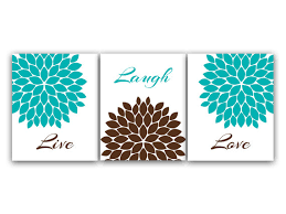 brown and turquoise bedroom home decor canvas or prints live laugh love turquoise wall