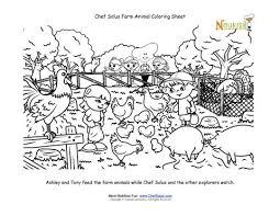 farm animal coloring activity kids feeding chickens
