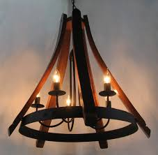 cervantes wine barrel chandelier recycled oak staves and hoop