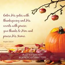 psalm for thanksgiving resources generosity matters