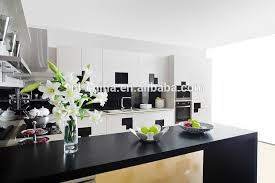 Black Lacquer Kitchen Cabinets by Kitchen Wall Units White And Black Combined High Glossy Lacquer