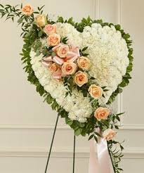 i800 flowers white open heart with roses by 1 800 flowers white carnation