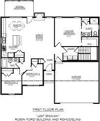 robin ford building u0026 remodeling sample floor plans in carroll