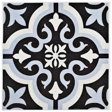 Black And White Border Tiles Ceramic Floor U0026 Wall Tile Ceramic Tile The Home Depot