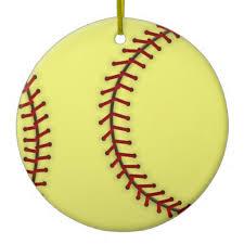Softball Christmas Ornament - softball ornaments 28 images softball ornaments invitation