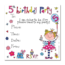 Birthday Party Invitation Card U0027s 5th Birthday Party Invitation Cards Party Invites Party Ark