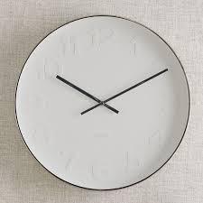 wall clocks mr white wall clock west elm